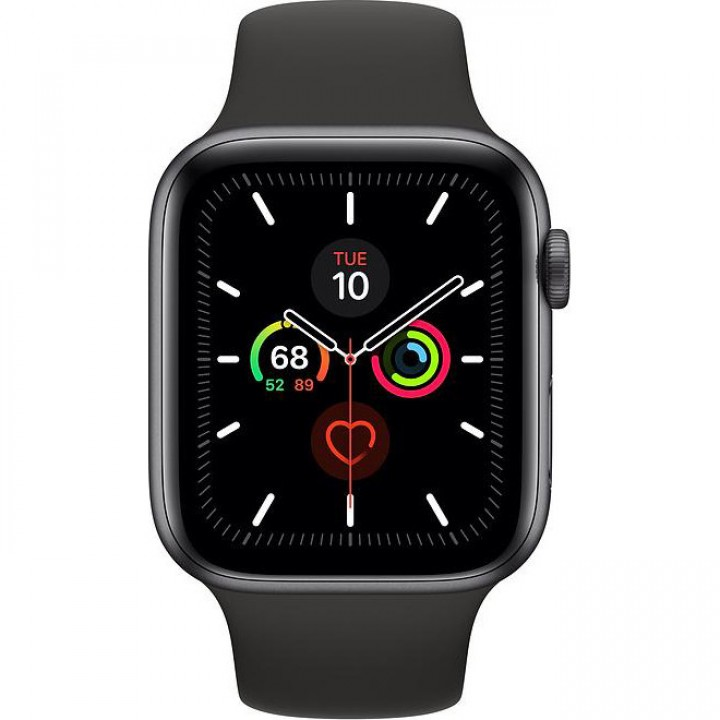 Apple WATCH Series 5 44mm Space Gray GPS Aluminium Case with Black Sport Band (MWVF2) Уценка
