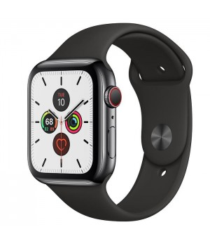 Apple Watch Series 5 LTE 44mm Space Black Steel w. Black b.- Space Black Steel (MWW72/MWWK2)