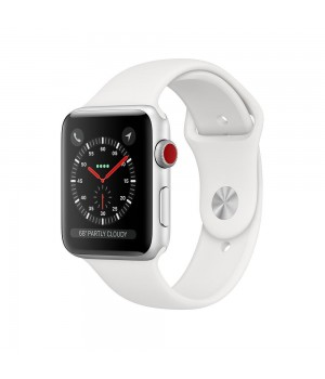 Apple Watch Series 3 GPS + Cellular 38mm Silver Aluminum Case with White Sport Band (MTGG2) Уценка