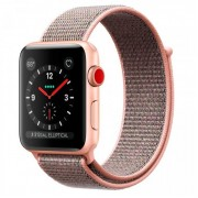 Apple Watch Series 3 GPS + Cellular 42mm Gold Aluminum w. Pink Sand Sport L. (MQK72)