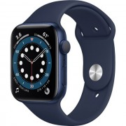 Apple Watch Series 6 GPS 44mm Blue Aluminum Case w. Deep Navy Sport B. (M00J3) Уценка