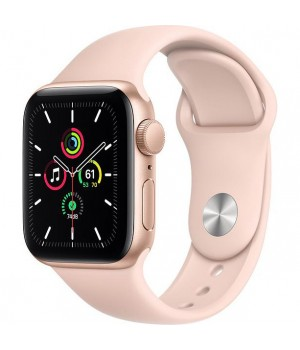 Apple Watch SE GPS 40mm Gold Aluminum Case w. Pink Sand Sport B. (MYDN2)