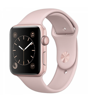 Apple WATCH Series 2 38mm Rose Gold Aluminium Case with Pink Sand Sport Band (MNNY2)