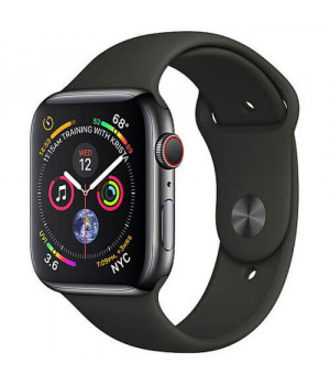 Apple WATCH Series 4 44mm Space Gray GPS + LTE Aluminium Case with Black Sport Band (MTUW2)