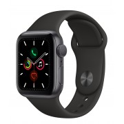 Apple WATCH Series 5 40mm Space Gray GPS + LTE Aluminium Case with Black Sport Band (MWWQ2)