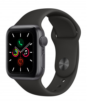 Apple WATCH Series 5 40mm Space Gray GPS Aluminium Case with Black Sport Band (MWV82)