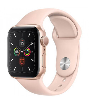 Apple WATCH Series 5 44mm Gold GPS Aluminium Case with Pink Sand Sport Band (MWVE2)
