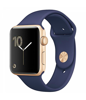 Apple WATCH Series 2 42mm Gold Aluminium Case with Midnight Blue Sport Band (MQ152)