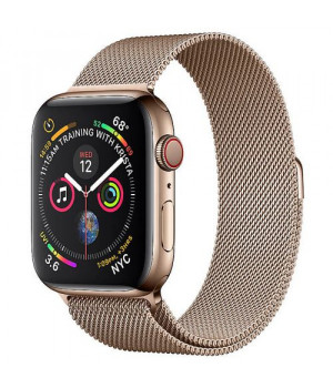 Apple WATCH Series 4 GPS + LTE 40mm Gold Stainless Steel Case with Gold Milanese Loop (MTUT2)