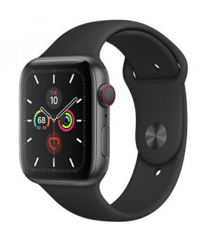 Apple WATCH Series 5 44mm Space Gray GPS + LTE Aluminium Case with Black Sport Band (MWW12)