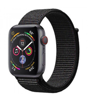 Apple WATCH Series 4 GPS + LTE 40mm Space Gray Aluminum Case with Black Sport Loop (MTUH2/MTVF2)