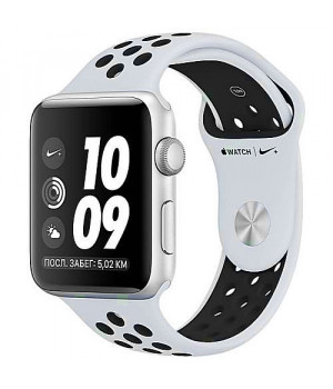 Apple WATCH Nike+ GPS 42mm Silver Aluminum Case with Pure Platinum/Black Nike Sport Band (MQL32)