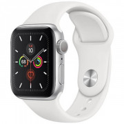 Apple WATCH Series 5 40mm Silver GPS + LTE Aluminium Case with White Sport Band (MWWN2) Like New