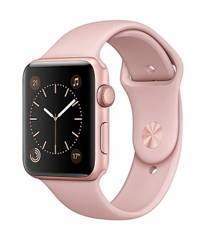 Apple WATCH Series 2 42mm Rose Gold Aluminium Case with Pink Sand Sport Band (MQ142)