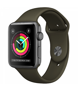 Apple WATCH Series 3 42mm Space Gray Aluminium Case with Gray Sport Band (MR362)