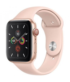 Apple WATCH Series 5 40mm Gold Aluminium Case with Pink Sport Band (MWV72)