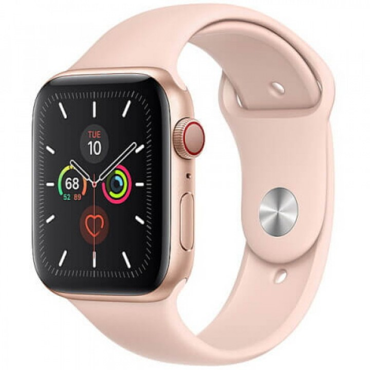 Apple WATCH Series 5 40mm Gold Aluminium Case with Pink Sport Band (MWV72) Уценка