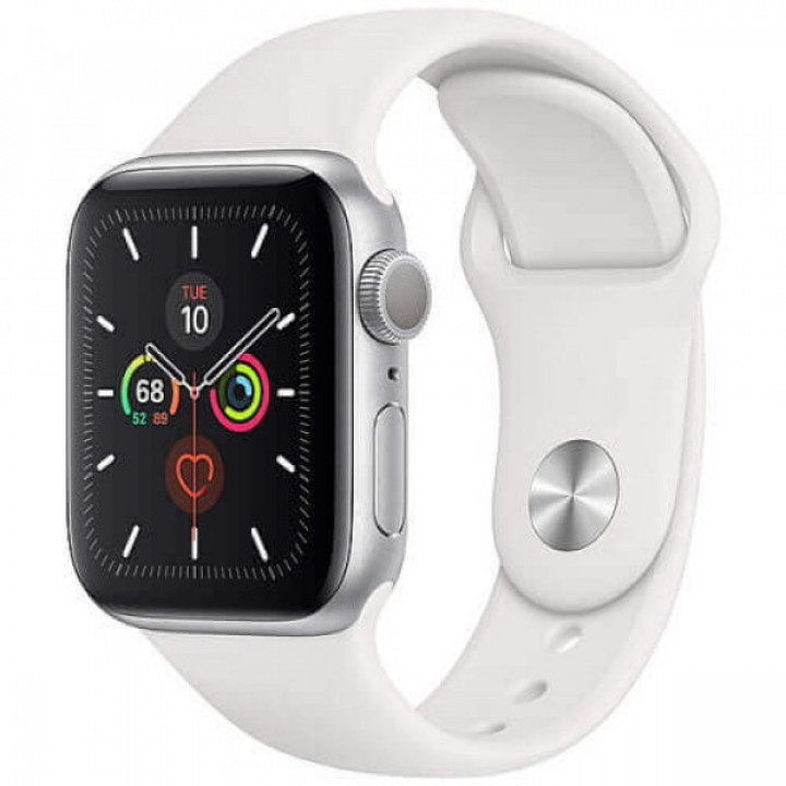 Apple WATCH Series 5 44mm Silver GPS Aluminium Case with White Sport Band (MWVD2) Уценка