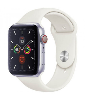 Apple WATCH Series 5 44mm Silver GPS + LTE Aluminium Case with White Sport Band (MWVY2)