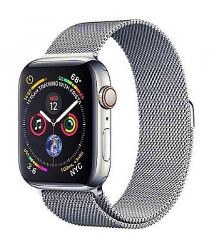 Apple WATCH Series 4 GPS + LTE 44mm Stainless Steel Case with Milanese Loop (MTV42)