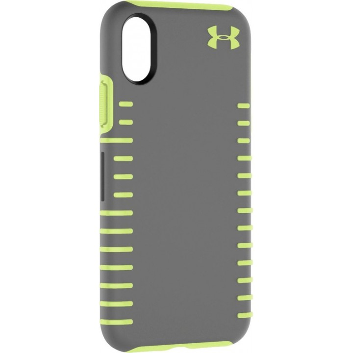 Защитный чехол Under Armour - Protect Grip Case for Apple iPhone X and XS - Graphite/Quirky Lime